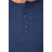 Novelty Injected Overdye 3-Button LS Henley with Raglan Sleeves. Made in an Eco-Friendly Factory, PX Clothing, $42.00