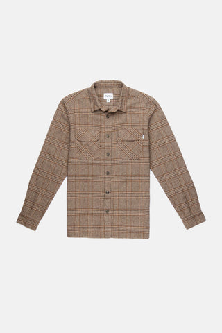 Heavy Weight Wool Over Shirt in a Classic Check Pattern with Chest Pockets, Rhythm, $80