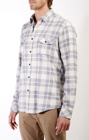 LS Button Down Flannel Shirt with Flap Chest Pockets, Civil Society, $79.00