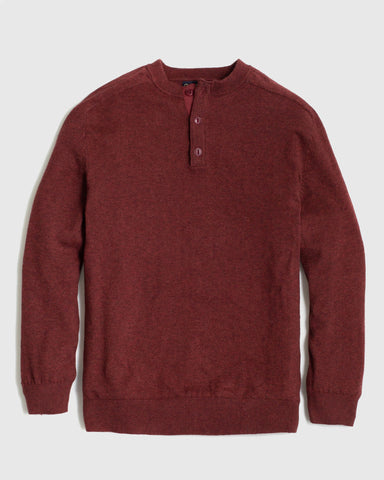 Casual yet Refined Lightweight Henley Sweater in Organic Cotton and Marino Wool Blend, United by Blue, $98