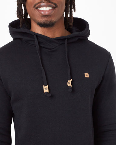 Regular Fit LS Hoodie with Crossover Collar in TreeFleece Blend Fabric, tentree, $68
