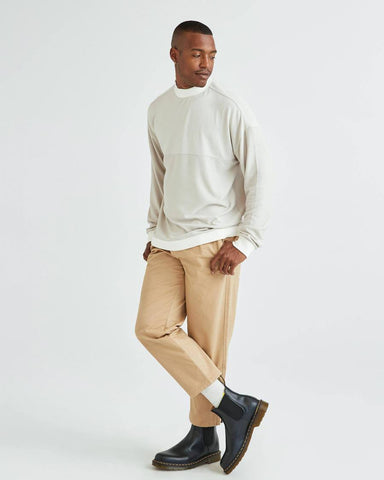Classic Fit Brushed Jersey Fabric LS Sweater with Dropped Shoulder, Richer Poorer, $72