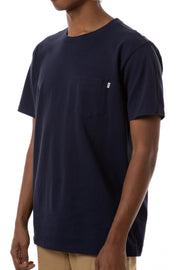 Classic Base Pocket Tee Made of Custom Dyed and Washed Organic Cotton, Katin, $32