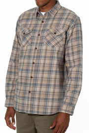 Twill Weave Plaid Heavy Flannel Brushed with Extra Soft Moleskin Finish, Katin, $80