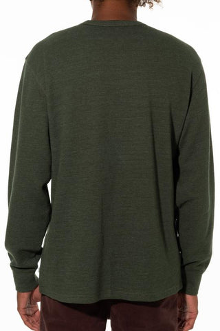 Waffle Knit Thermal LS Tee with Custom Katin Embroidery on Chest, Katin, $40