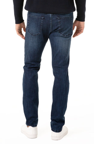 "Alameda Dark Wash 12 oz Denim in Modern Slim Straight fit with 14.5"" Leg Opening 32"" Inseam, Liverpool Denim, $98"