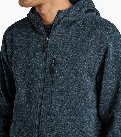 100% Polyester Brushed Back Fleece Zip Up Hoodie with Reverse Face Zippers, Roark, $88