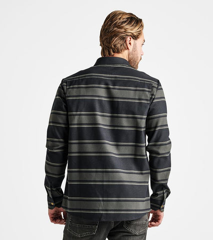 Brushed Polyester Stretch Button Up Flannel, Roark, $87