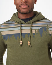 Regular Fit Fleece Hoodie with Retro Juniper Screen in Organic Cotton and Recycled Polyester Blend Fabric, tentree, $68