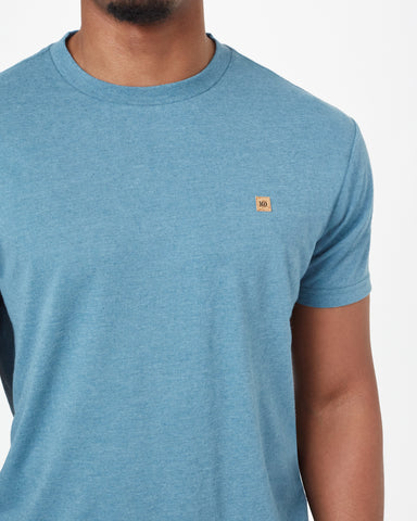 Crewneck SS Tee with Step Hem in Hemp and Recycled Polyester Fabric, tentree, $35