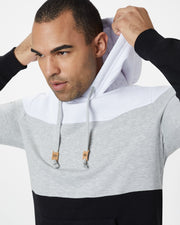 Colorblocked Regular Fit Hoodie with Crossover Collar in Signature TreeFleece Fabric, tentree, $78