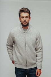 Heavy Sweater Full Zip Jacket with Sherpa Lining, The Normal Brand, $178