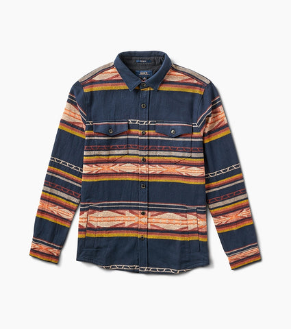Heavyweight Jaquarded Cotton Flannel Button Up Overshirt, Roark, $95
