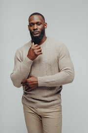 Fisherman Style Speckled Knit Sweater in a Heavyweight Wool and Nylon Blend Fabric, The Normal Brand, $110