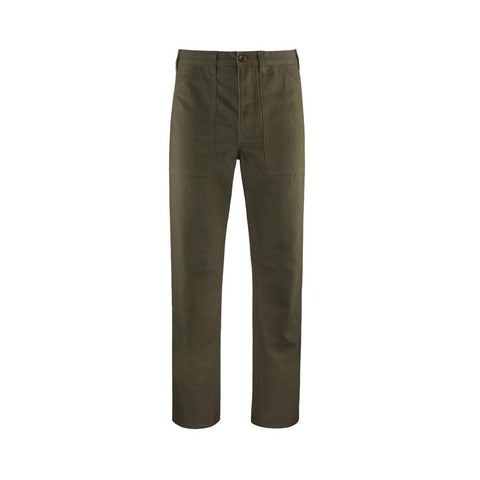 Miltary Silhouette Relaxed Straight Twill Pant in Midweight 100% Organic Cotton, Topo Designs, $89
