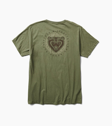 Soft Garment Dyed Graphic Tee with Natural Irregularities in Color, Roark, $28