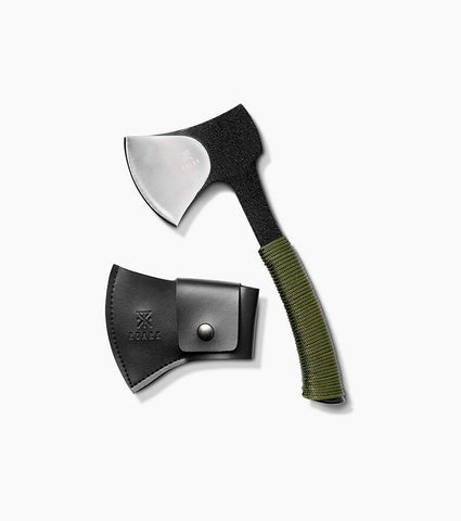 "Daily Use Axe with 4.5"" Blade in 440 Stainless Steel and a Full Tang Handle with Rubber Grip, Roark, $60"