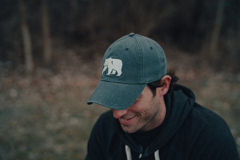 Embroidered Dad Cap Fit Hat with Unstructured Front, The Normal Brand, $34