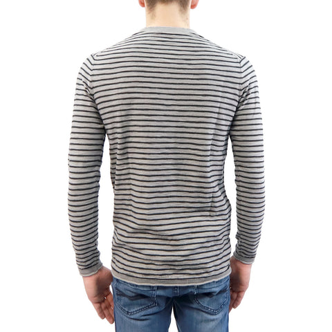 Henley Sweater w/ Stripes