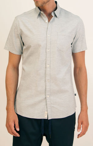 Masson Short Sleeve Jacquard Button Up