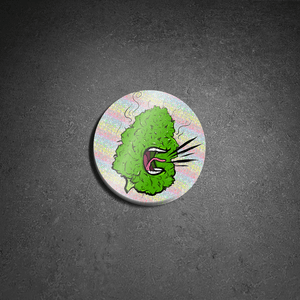 Green Nug Hologram Sticker