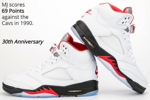 Jordan 5 fire red retro 2020