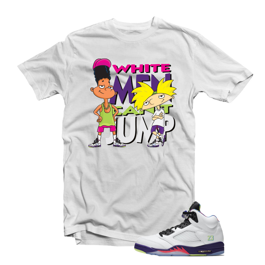 "MTK ""White Men Cant Jump"" Air Jordan ""Bel Air"" 5s Matching T-Shirt"
