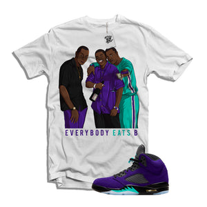 "MTK Paid in Full ""Everybody Eats B"" Air Jordan Alternate Grape 5 Matching T-Shirt"