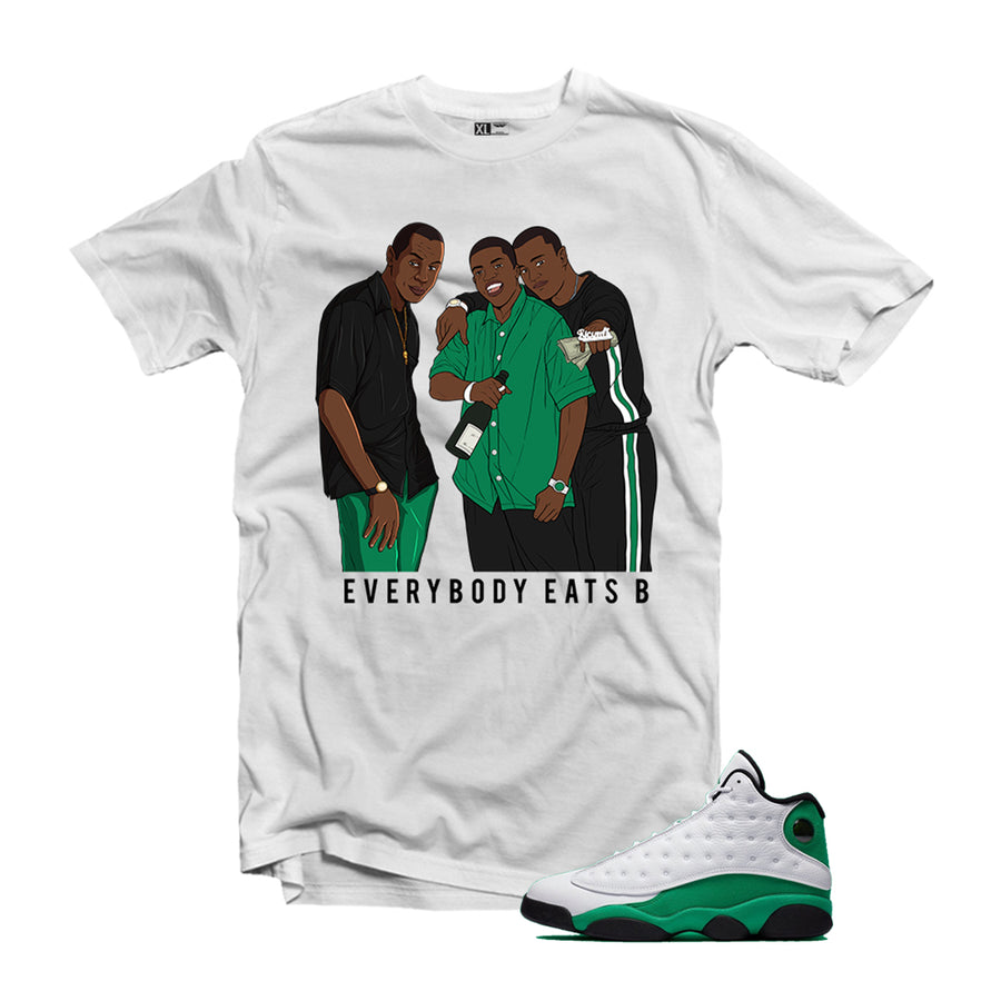 Paid in Full Air Jordan 13 Lucky Green Matching T-Shirt
