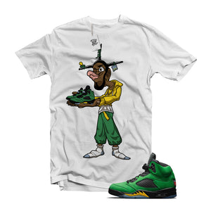 "MTK ""Don't Be A Menace"" Air Jordan 5 Oregon Matching White Shirt"
