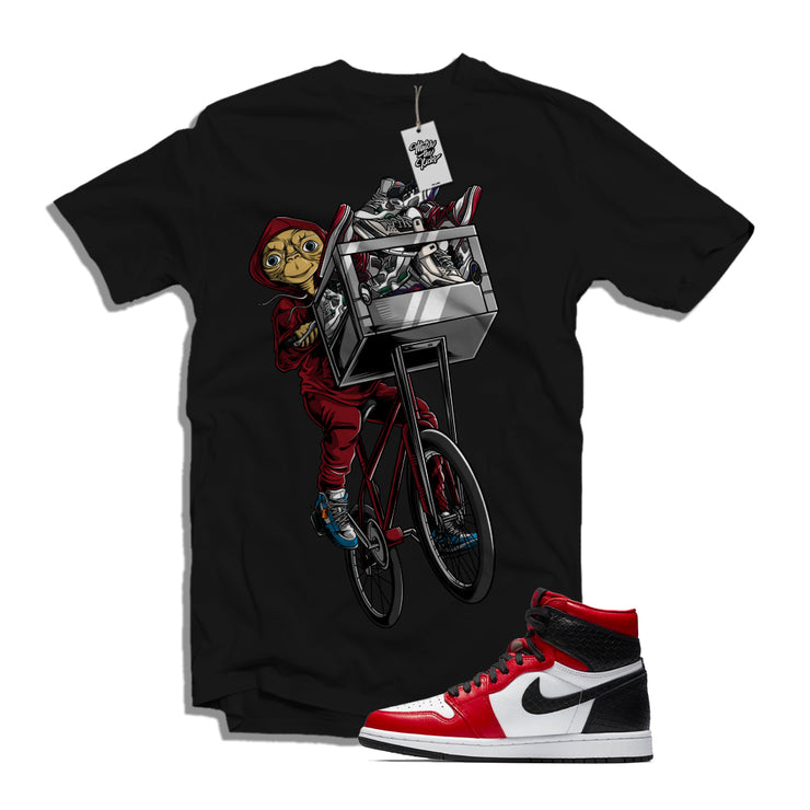 "MTK ""ET"" Air Jordan 1 ""Satin Snakeskin"" Matching Black T-Shirt"