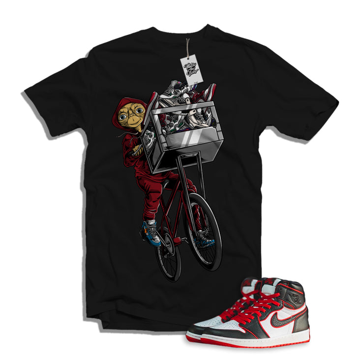 "MTK ""ET"" Air Jordan 1 ""Bloodlines"" Matching Black T-Shirt"