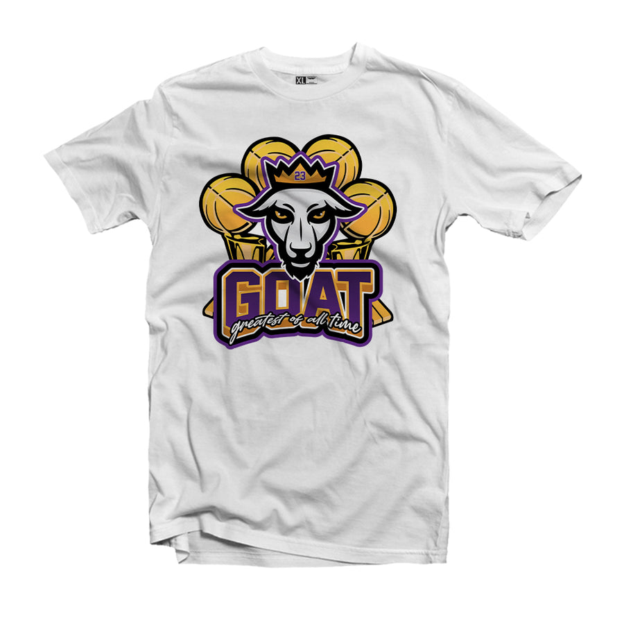 "MTK ""The Goat"" Lebron White T-Shirt"