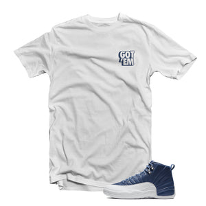 "MTK ""Got 'EM"" Air Jordan ""Indigo"" 12s Matching T-Shirt"