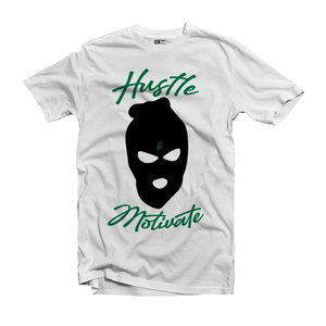 Hustle Motivates Ski Mask T-Shirt