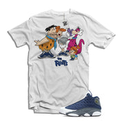 "The Flints Air Jordan ""flint"" 13 matching t-shirt"
