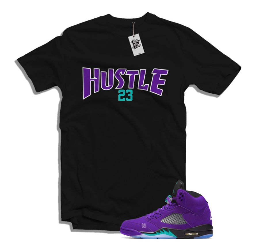 "MTK Hustle Air Jordan 5 ""Alternate Grape"" Matching T-Shirt"