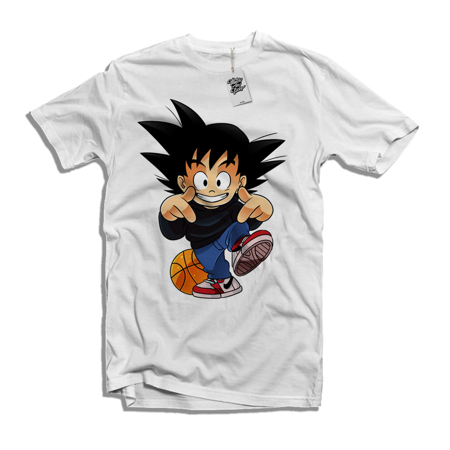 "MTK ""Kid Goku"" Air Jordan 1s ""Snakeskin"" Matching T-Shirt"