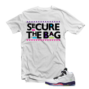 "MTK ""Secure The Bag"" Air Jordan ""Bel Air"" 5s Matching T-Shirt"