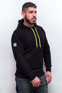 underbear neon sweater hoodie black neon yellow bear gay men plus size