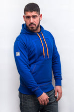 Load image into Gallery viewer, underbear neon sweater hoodie royal blue neon orange bear gay men plus size