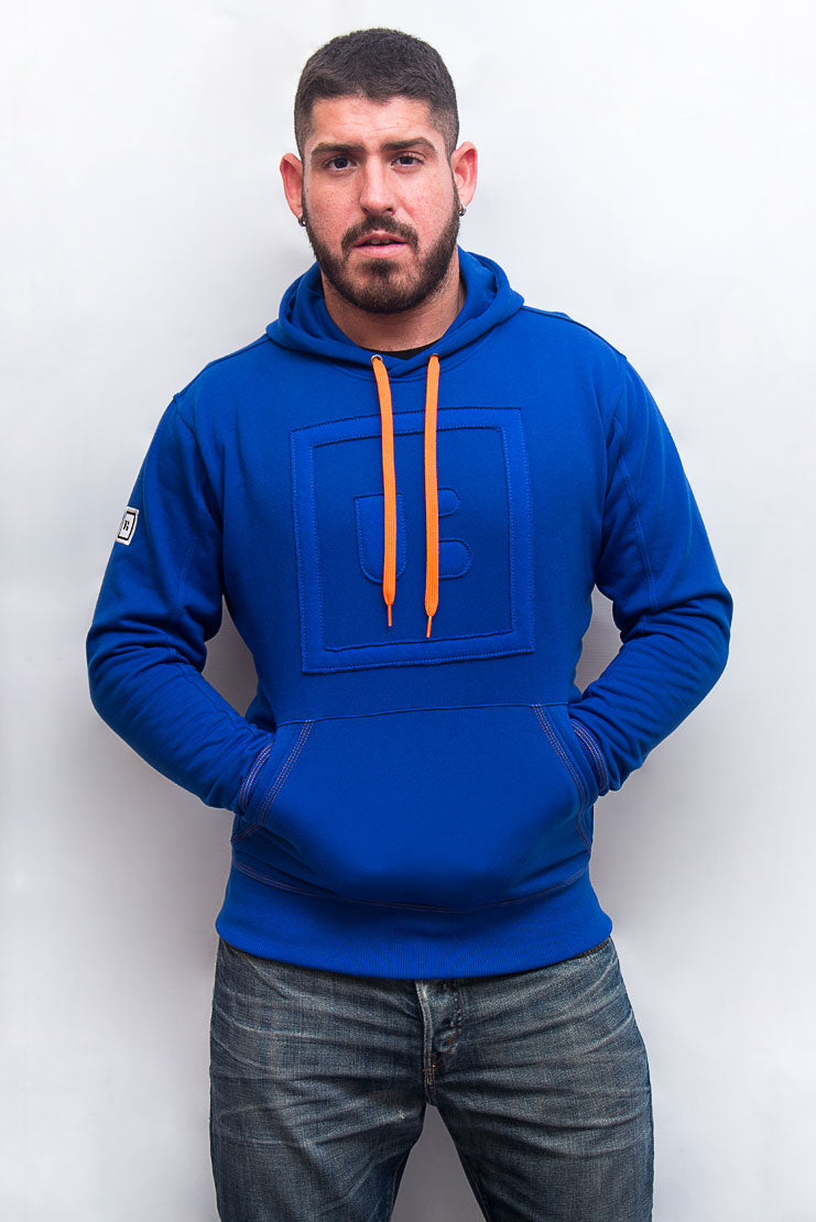 underbear neon sweater hoodie royal blue neon orange bear gay men plus size