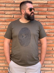 Underbear FingerPrint Army Green T-Shirt