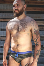 Load image into Gallery viewer, green army camo men's swim brief from S to 3xl plus size underbear