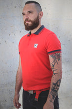 Load image into Gallery viewer, men polo shirt coral red three stripes from S to 3xl plus size underbear