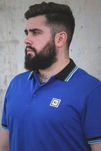 Load image into Gallery viewer, men polo shirt royal blue three stripes from S to 3xl plus size underbear
