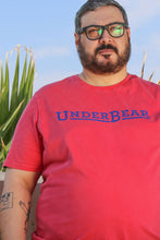Load image into Gallery viewer, UnderBear Logo Coral Red T-shirt