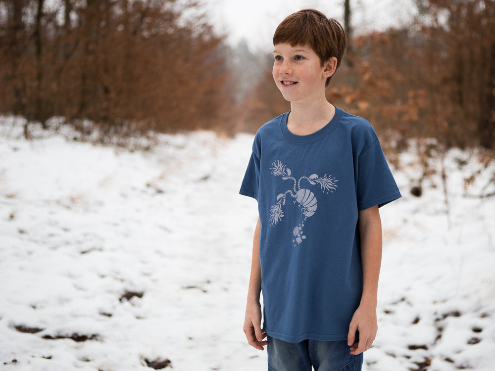 Amanita design Samorost 3 Dragon Kids Blue T-shirt