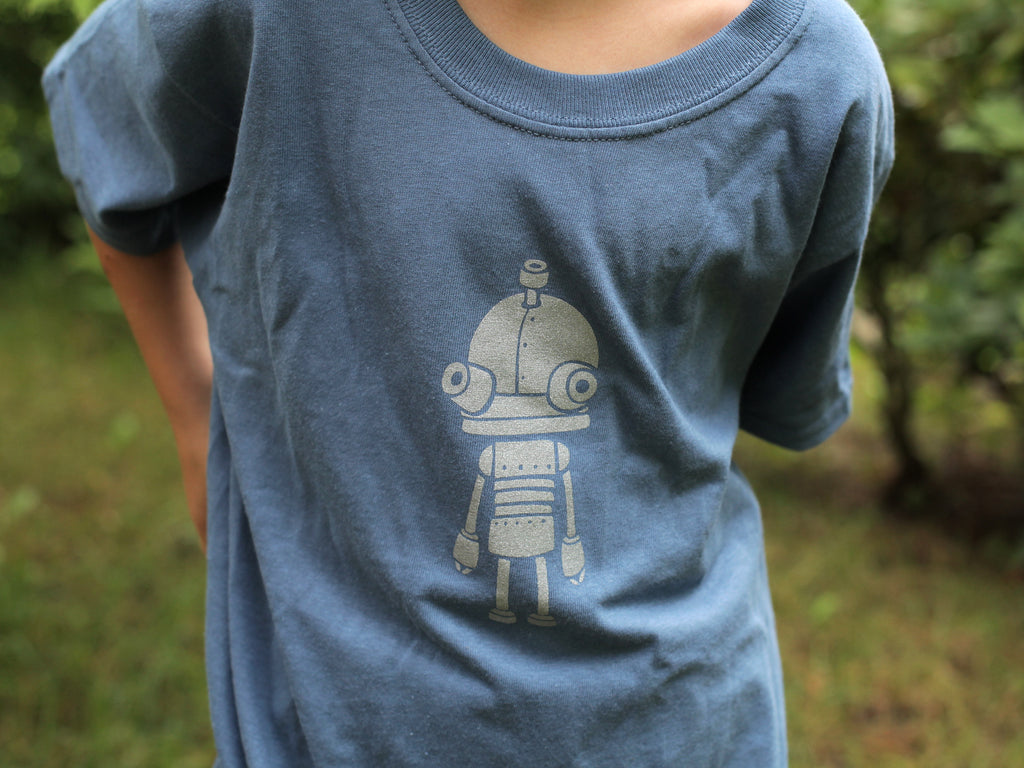 Amanita design Machinarium Josef kids blue T-shirt