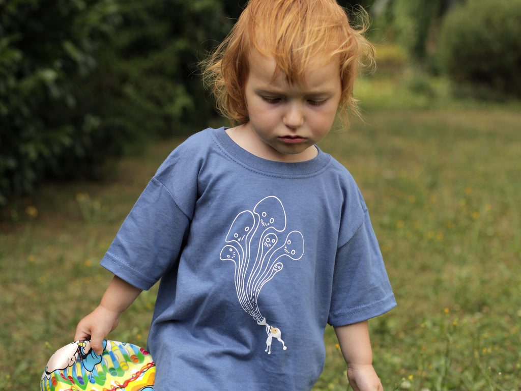 Samorost 3 Gnome Kids blue T-shirt